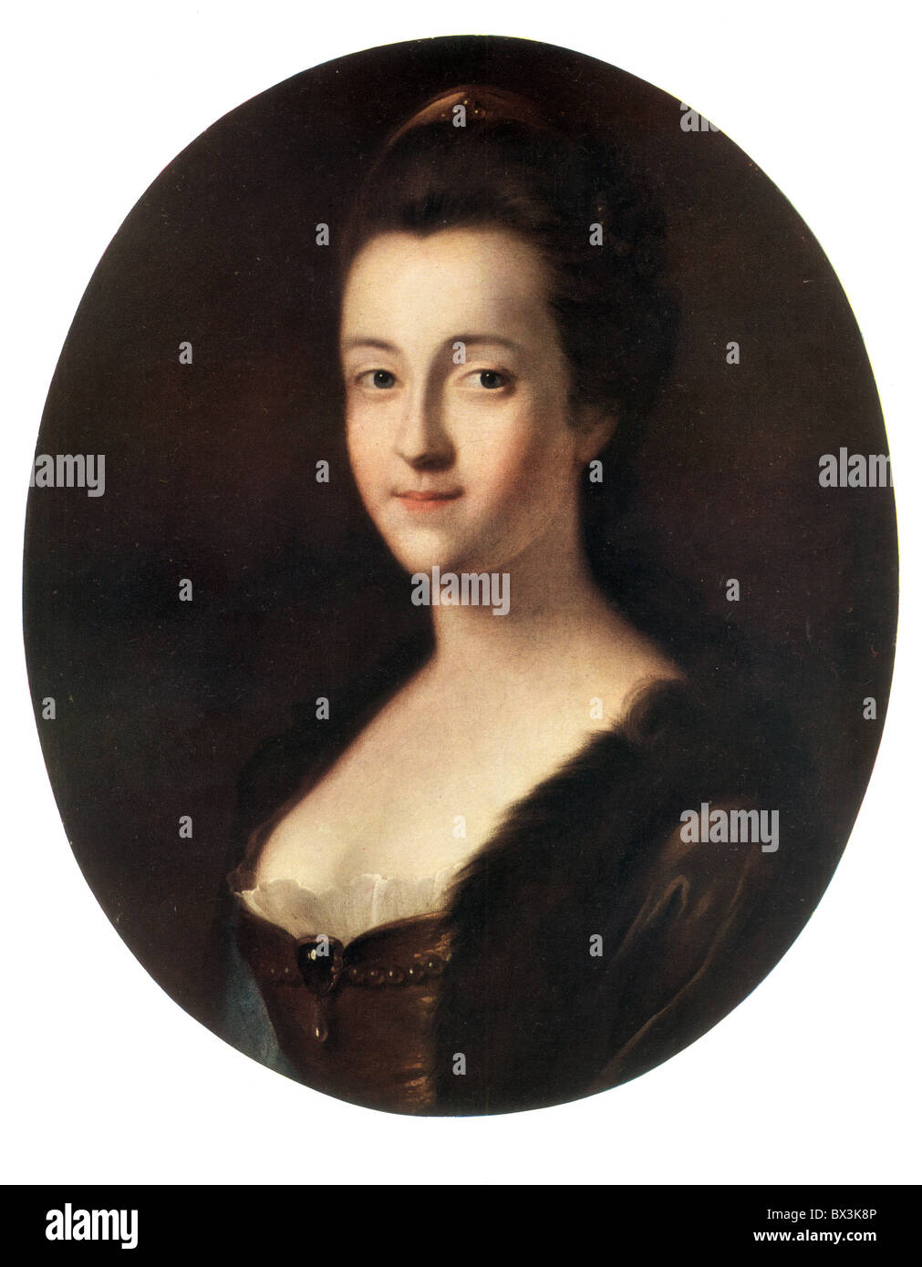 Colour portrait of Elizabeth Craven, Margravine of Brandenburg-Anspach by Thomas Gainsborough - Stock Image