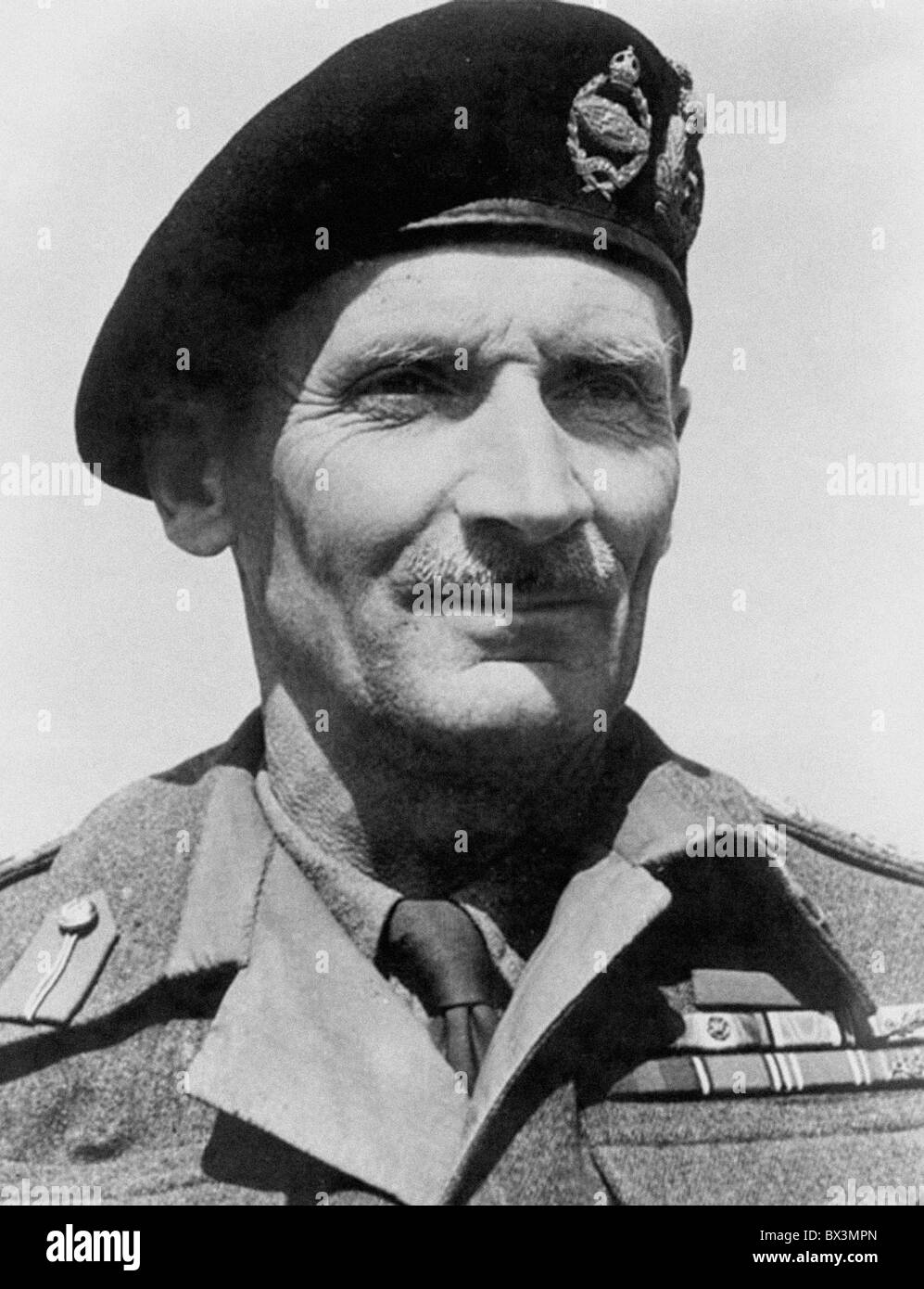 Bernard Law Montgomery, 1st Viscount Montgomery of Alamein. From the archives of Press Portrait Service (formerly - Stock Image