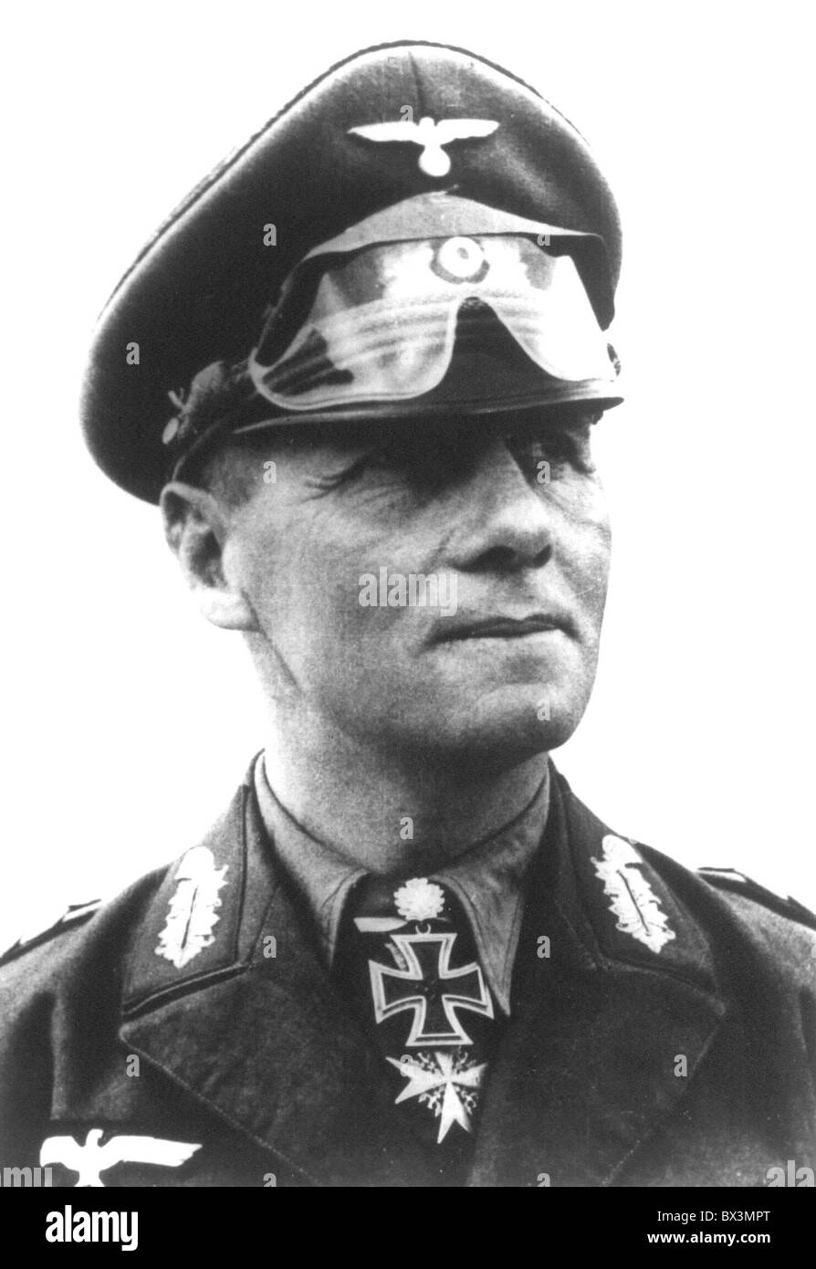 Field Marshall Erwin Rommel was one of Germany's most respected military leaders in World War Two. - Stock Image