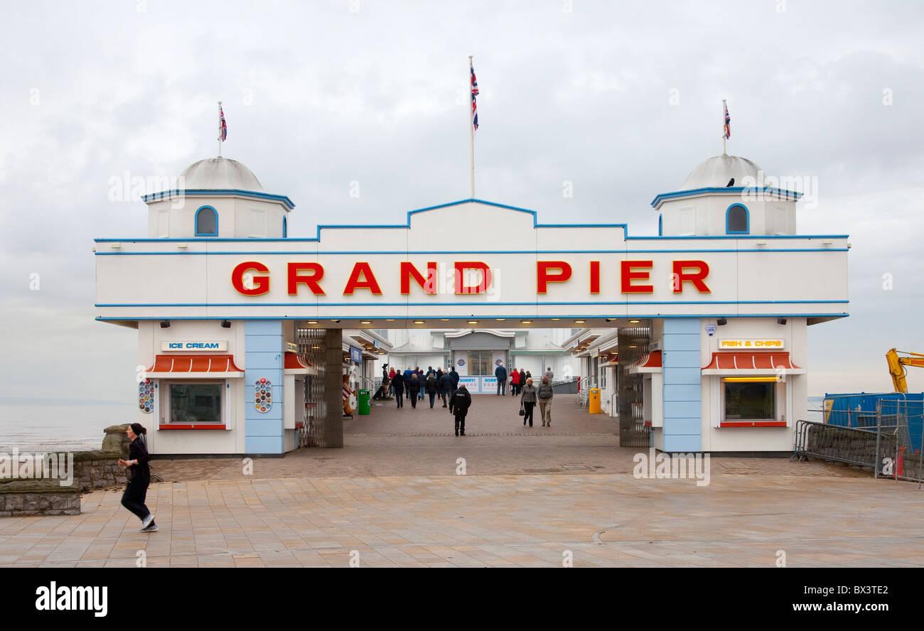 weston super mare pier facade - Stock Image