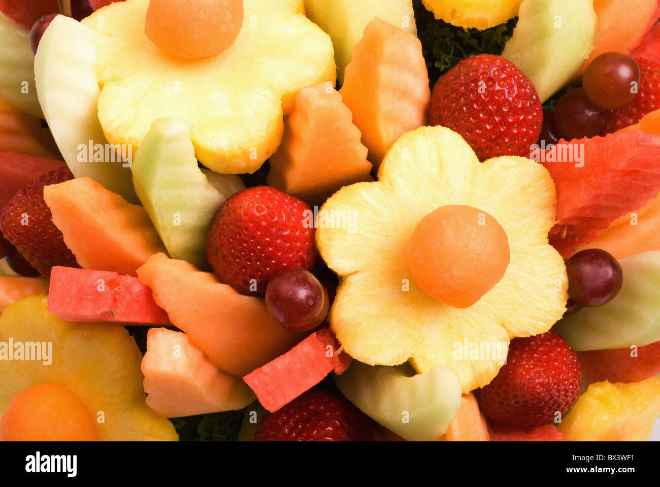 Basket Made Of Fruit - Stock Image