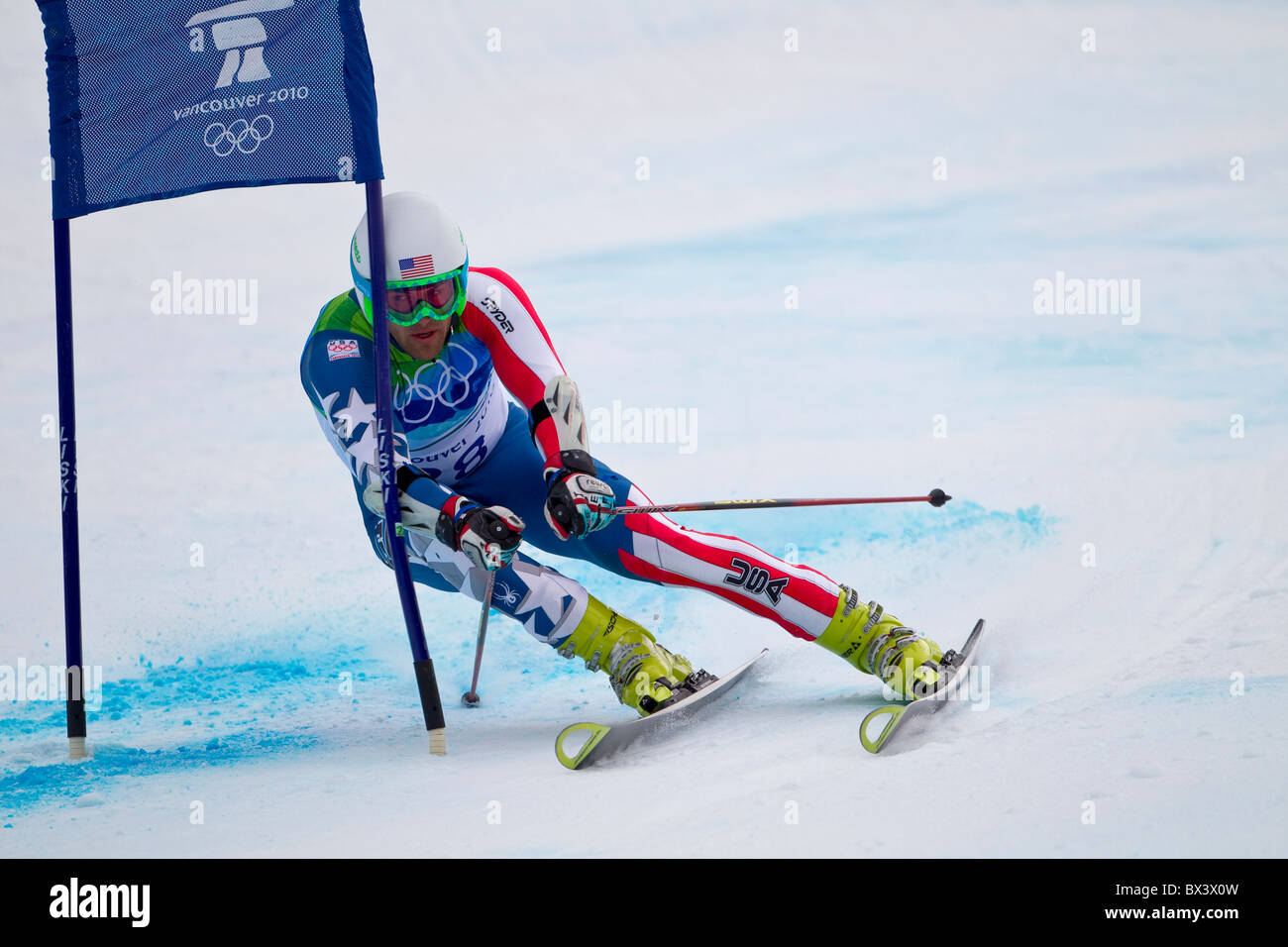 2010 Vancouver Winter Olympics; Mens Giant Slalom; Jake Zamansky (USA) Stock Photo