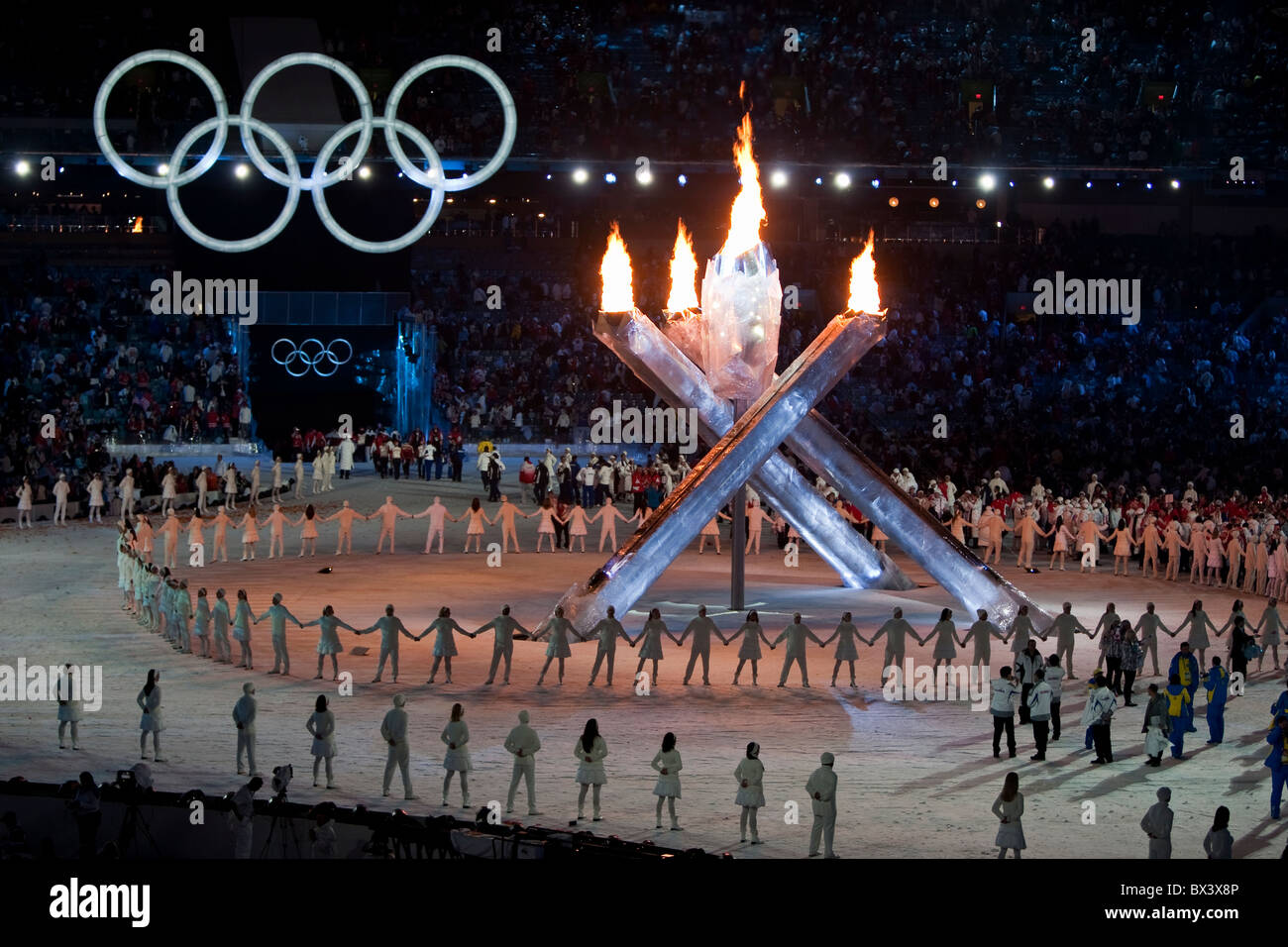 2010 Vancouver Winter Olympics; Opening Ceremony; - Stock Image
