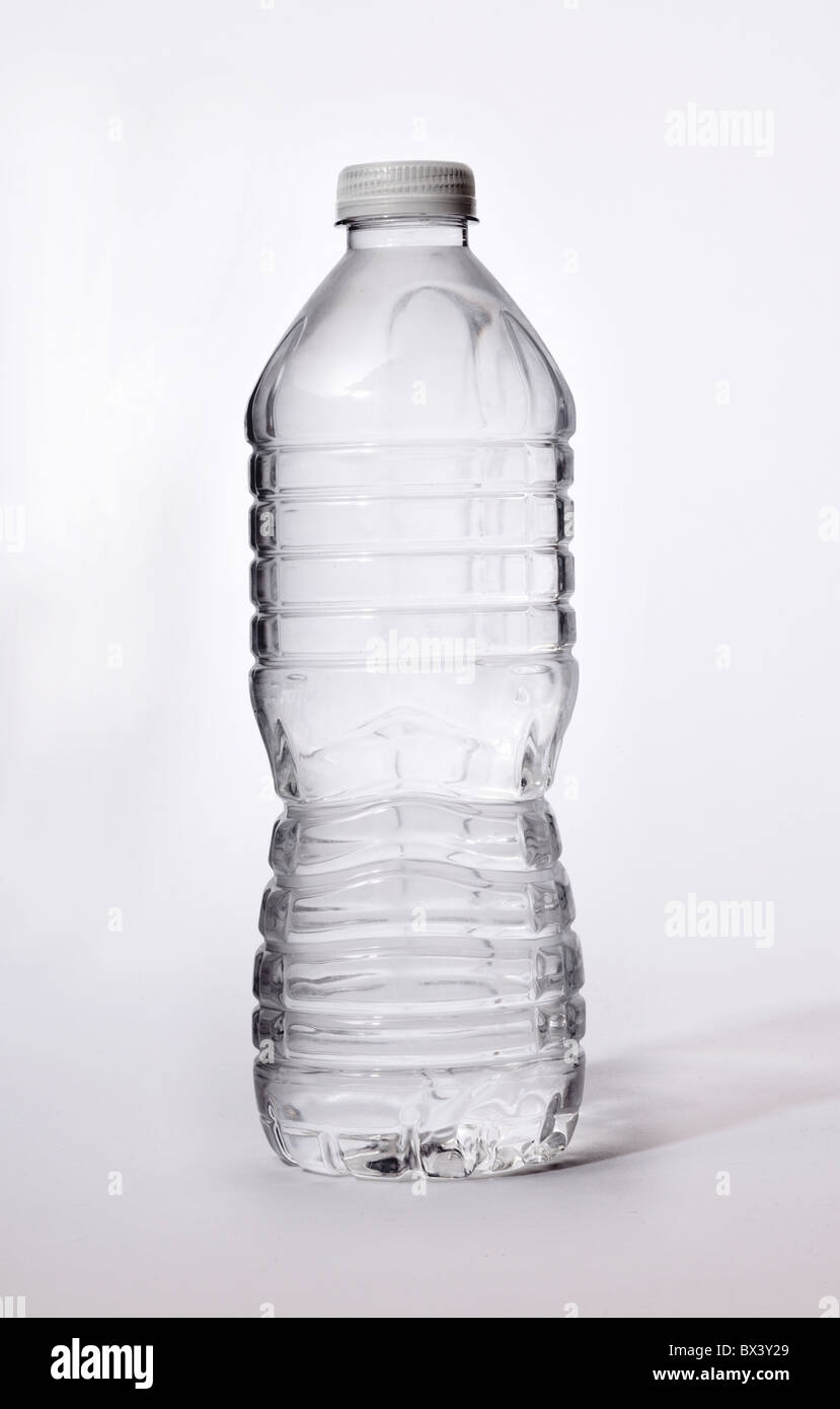 Plastic water bottle full of water - Stock Image