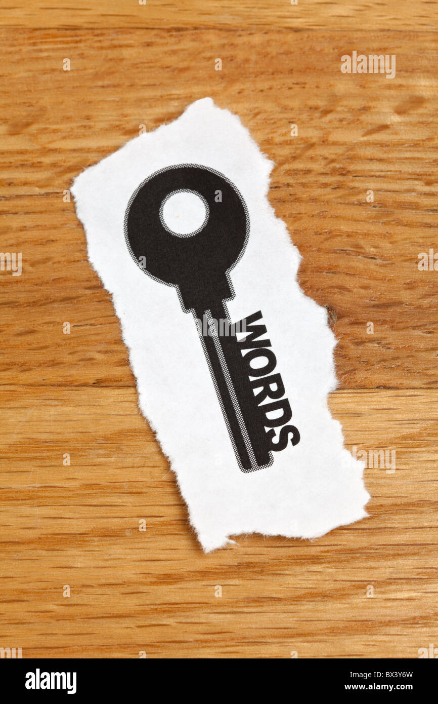 keywords, concept of Internet Searching - Stock Image