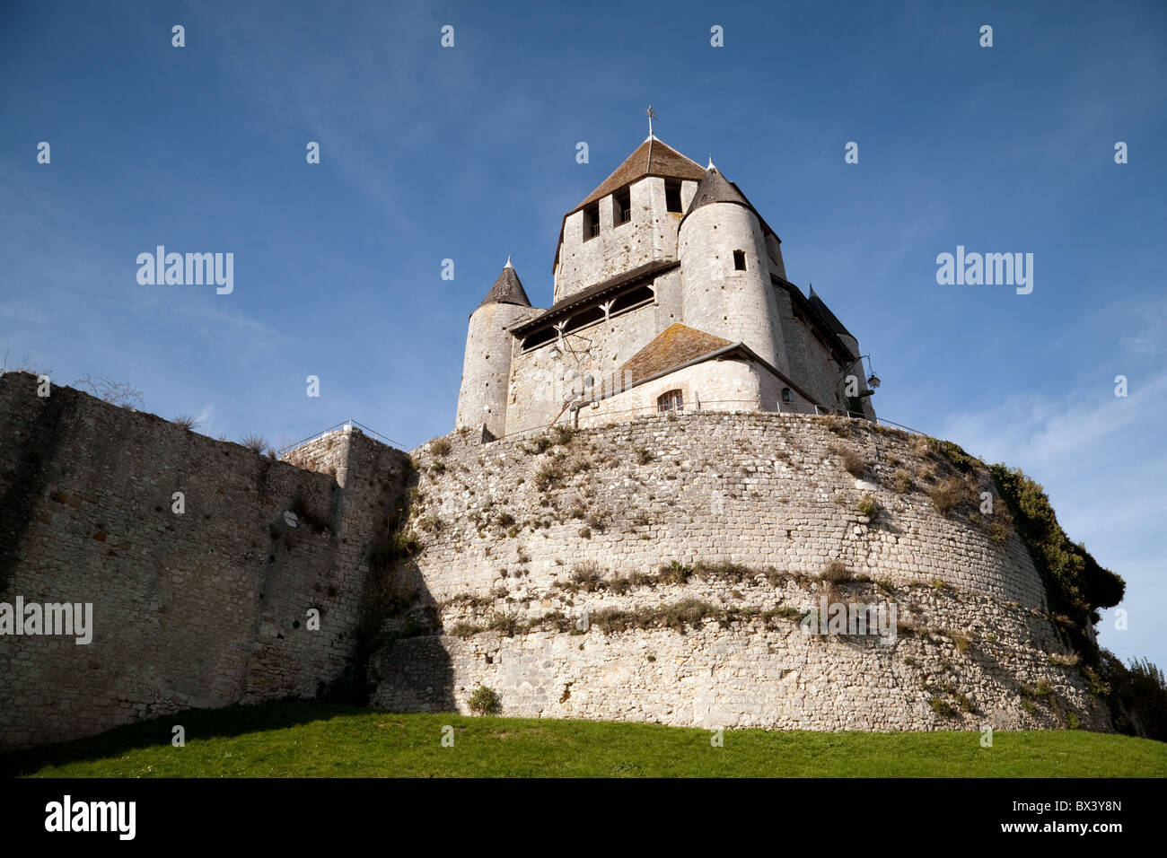 The Tour Cesar (Caesars Tower) in the medieval town of Provins, Seine et Marne, Ile de France France - Stock Image