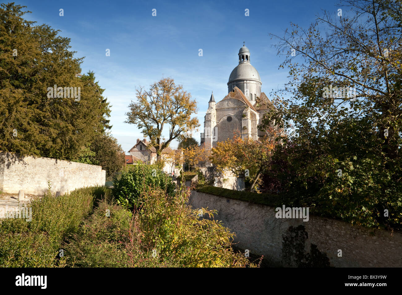 The Saint Quiriace Collegiate Church in the medieval town of Provins, Seine et Marne, Ile de France France - Stock Image