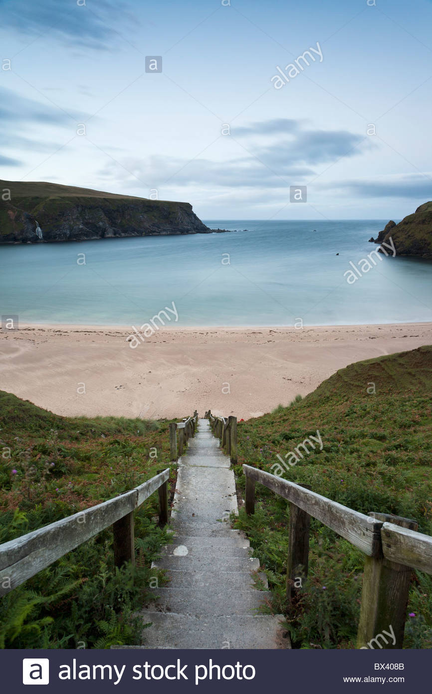 Trabane Or Silver Strand Near Malin Beg; County Donegal, Ireland - Stock Image