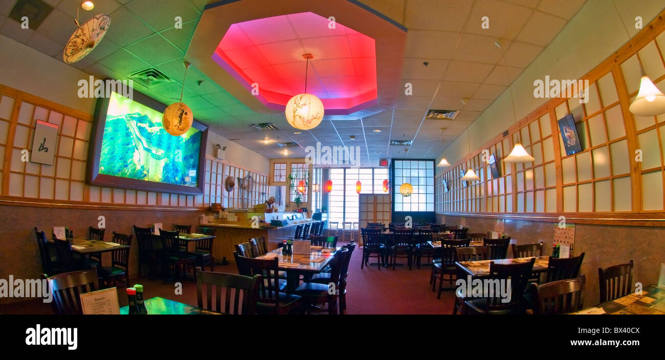 Interior Of Osaka Sushi Restaurant Philadelphia Pa Usa