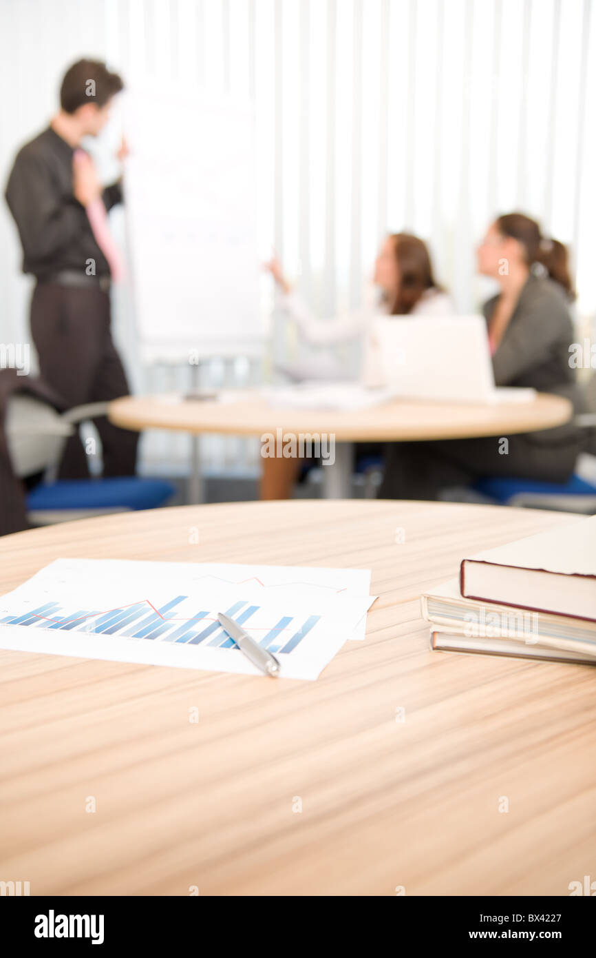 Office supply - business meeting in background, group of people - Stock Image