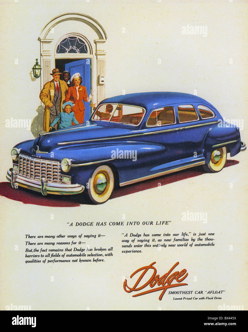 1949 DODGE advert - Stock Image