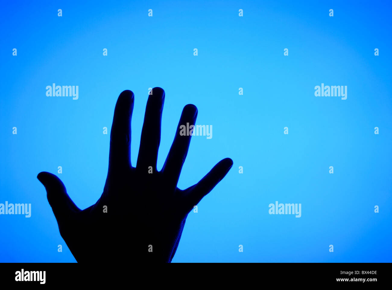 TOUCHING FLAT SCREEN TV - Stock Image