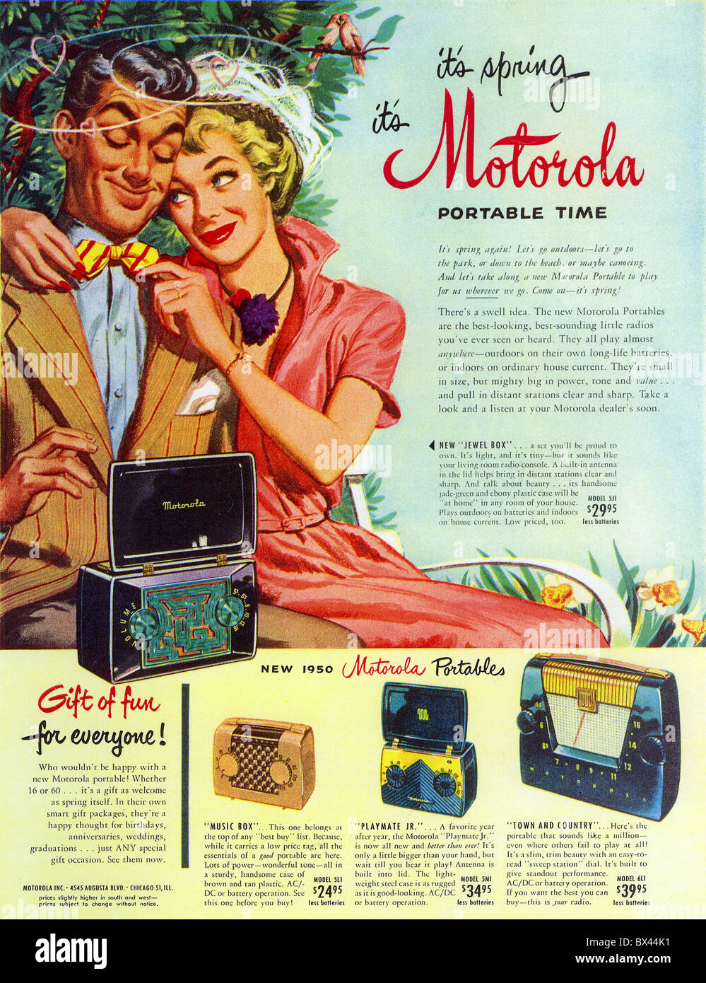 MOTOROLA Radio Advert In 1950