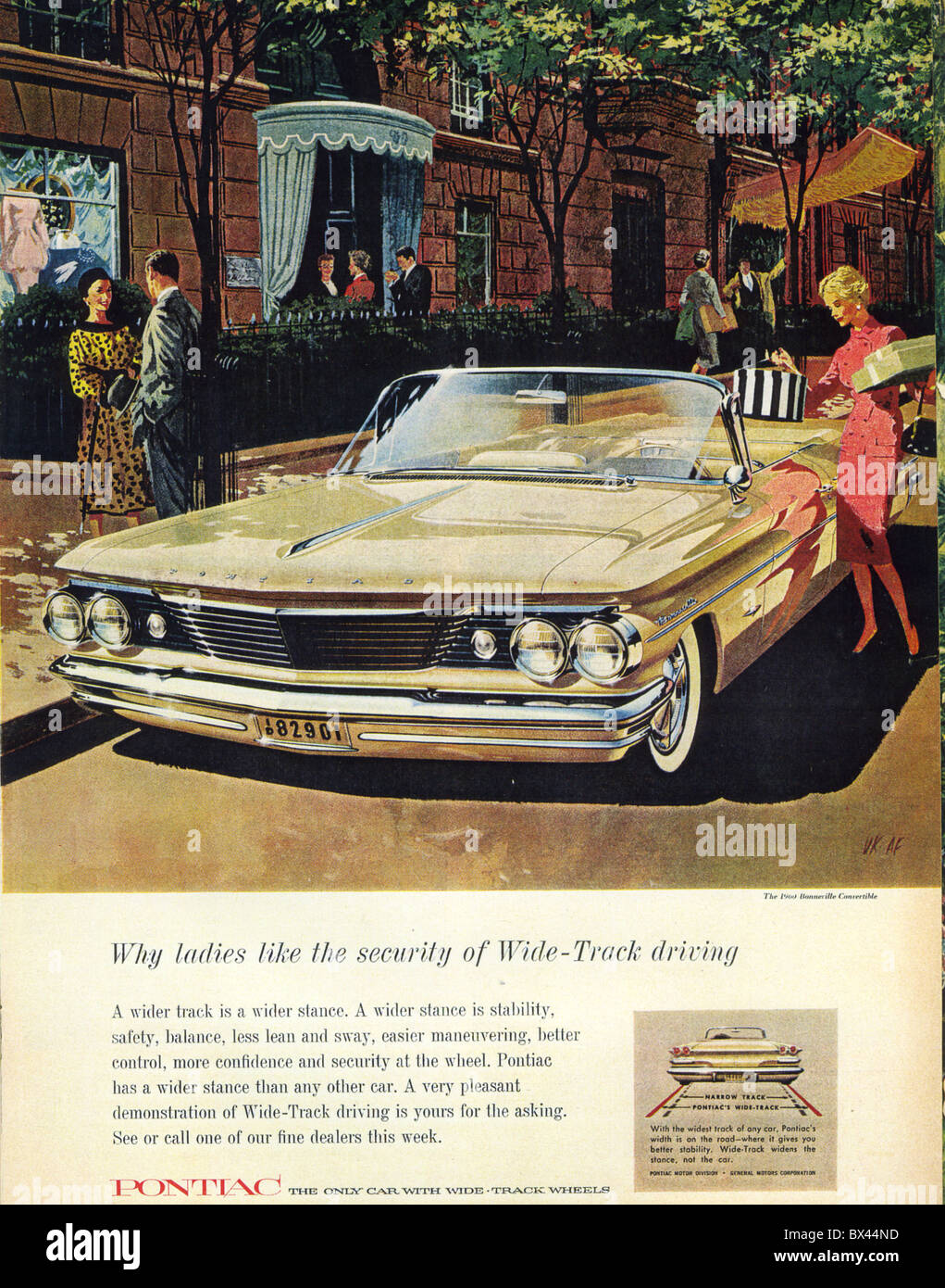 1960 PONTIAC CONVERTIBLE advert - Stock Image