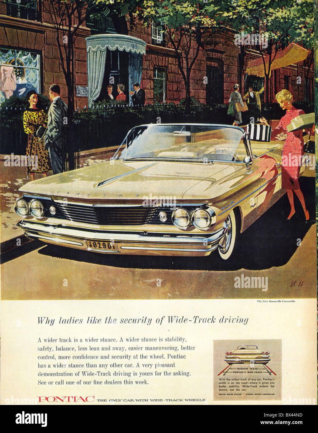 Pontiac Stock Photos Images Alamy 1960 Bonneville Station Wagon Convertible Advert Image