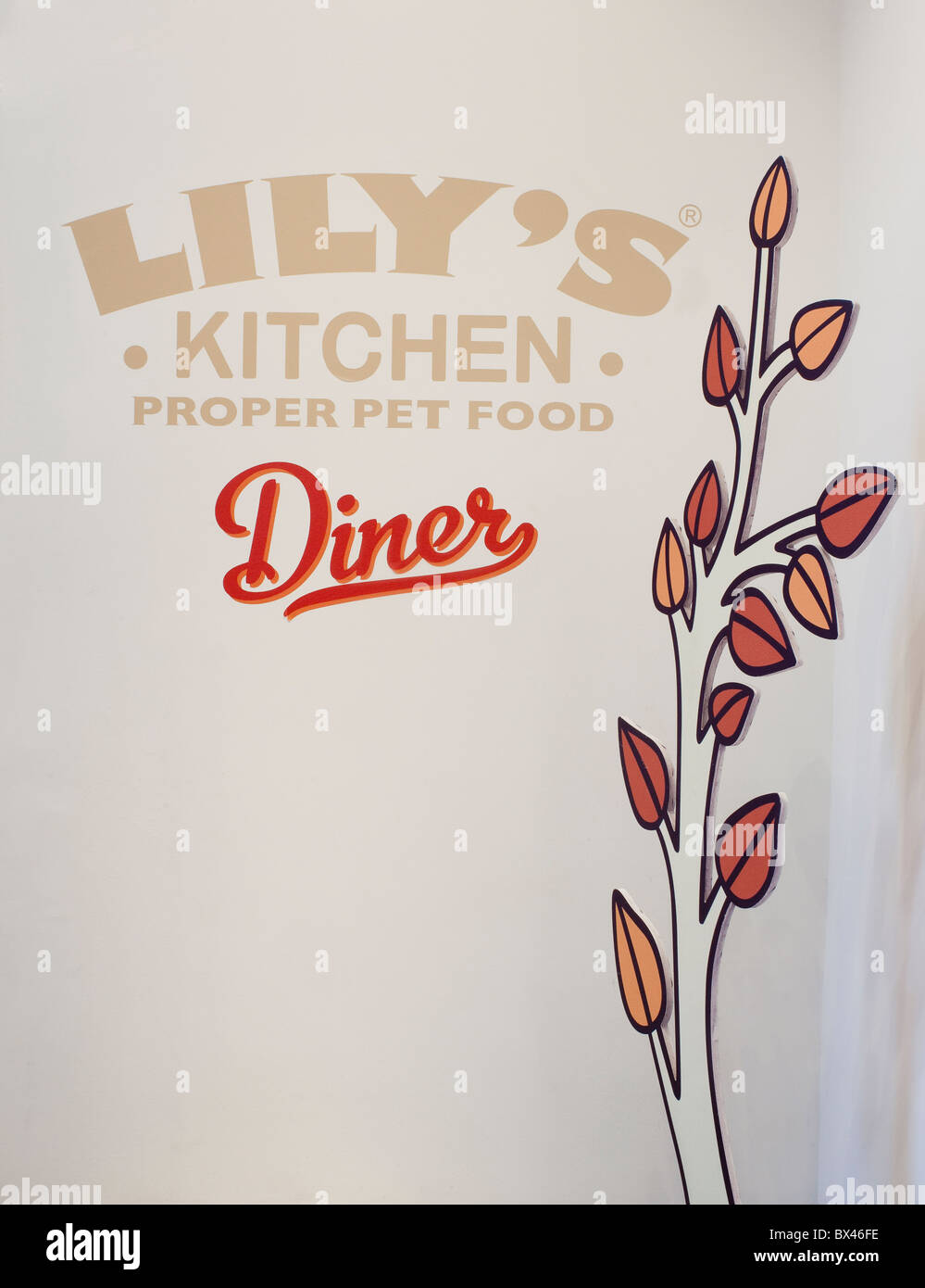 Lily's Kitchen Diner. The first pop-up doggy diner, London UK - Stock Image