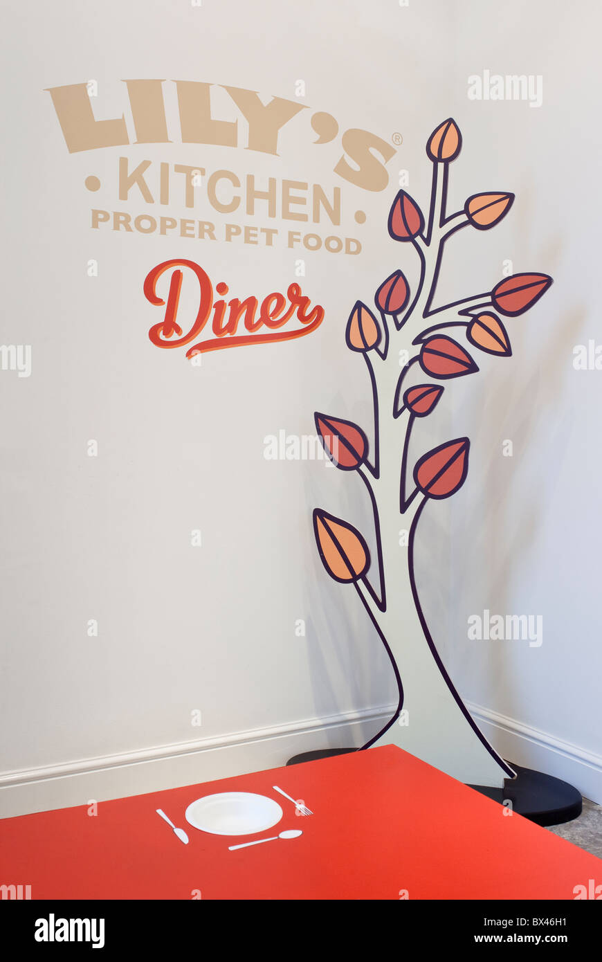Lily\'s Kitchen Diner. The first pop-up doggy diner, London UK Stock ...