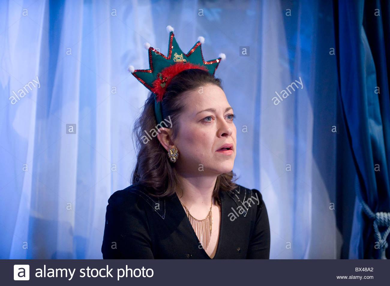 Season's Greetings by Alan Ayckbourn,directed by Marianne Elliott. With Katherine Parkinson as Pattie,Catherine - Stock Image