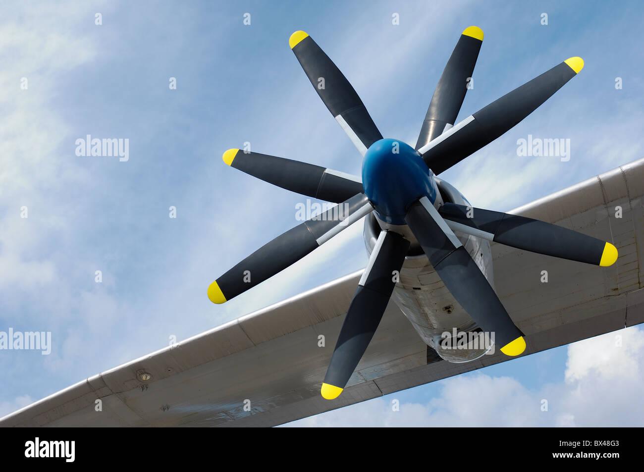 Propeller of an Antonov An-22 Stock Photo