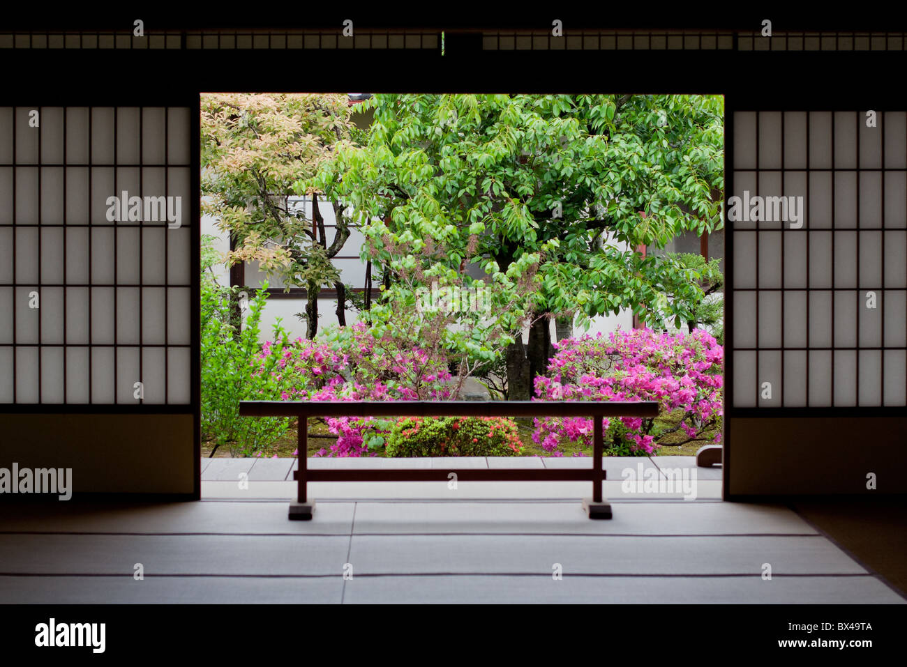 Japanese garden in Kyoto - Stock Image