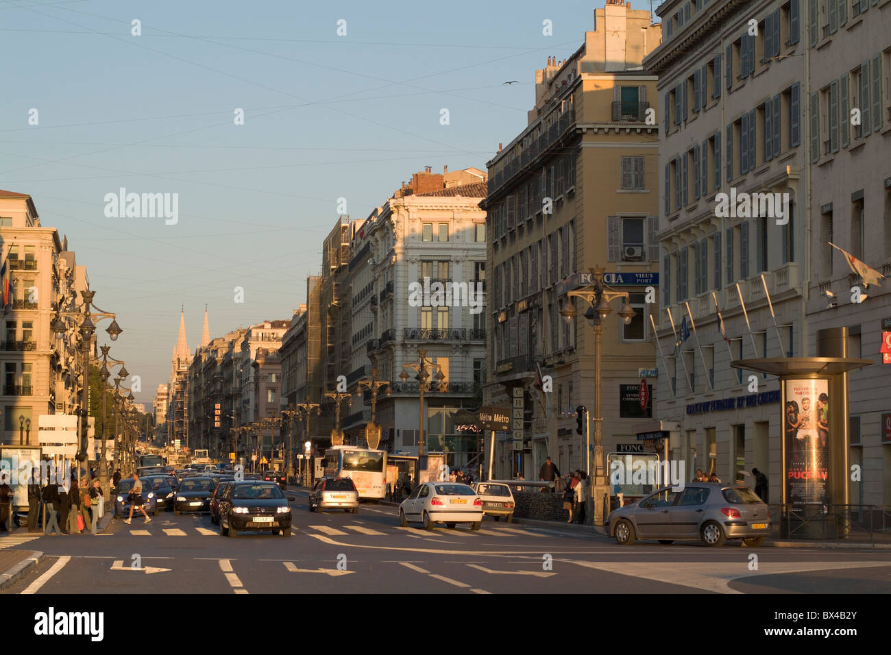 marseille france city street scene la canebi re street in the stock photo 33287939 alamy. Black Bedroom Furniture Sets. Home Design Ideas