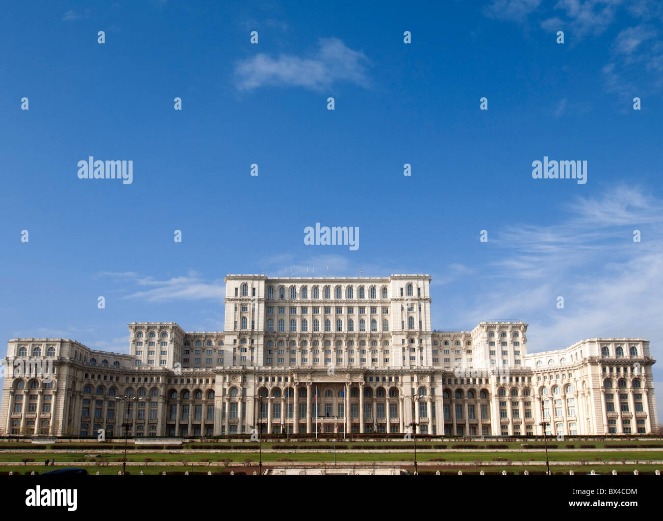 The Parliament Palace now home to Romanian Senate in Bucharest Romania Stock Photo