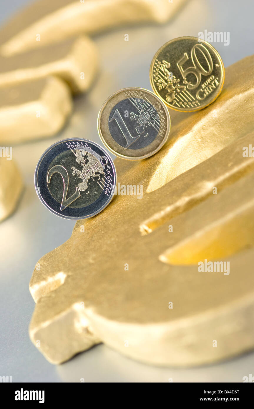 Euro Money Exchange Symbol Photo Stock Photo
