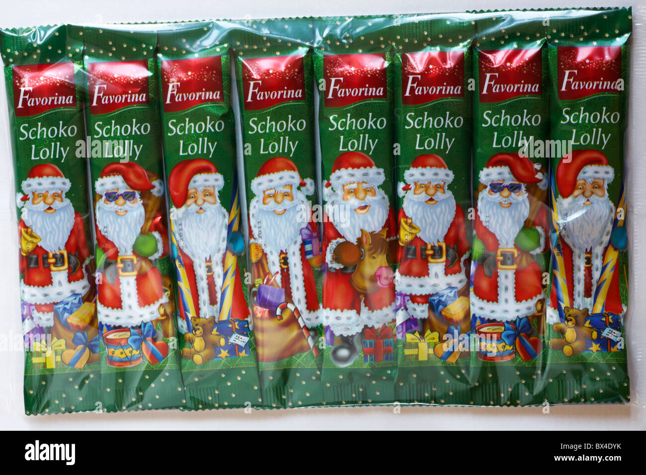 Chocolate Santa Lollies High Resolution Stock Photography And Images Alamy