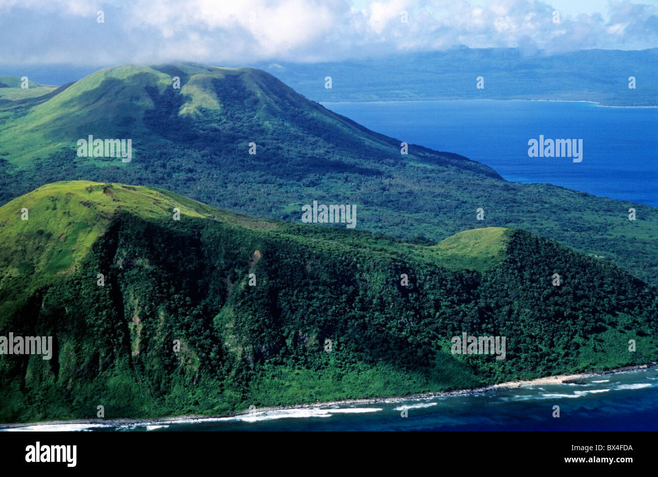 Vanuatu Islands aerial - Volcanoes on Nguna island, close to the island of Efate, Vanuatu in the South Pacific Ocean. - Stock Image