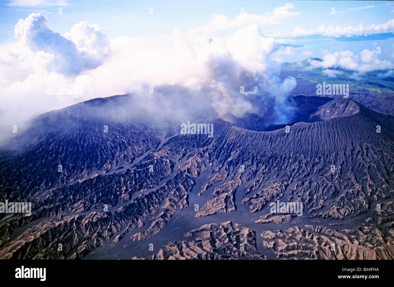 Mount Bembow, an active volcano on the island of Ambrym, Vanuatu, South Pacific Islands. - Stock Image