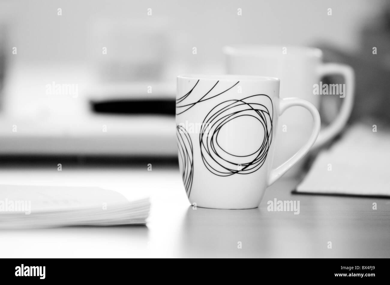 Coffee Mug Mugs Cups Cup Break Tea Refreshments Business Meeting Stock Photo Alamy
