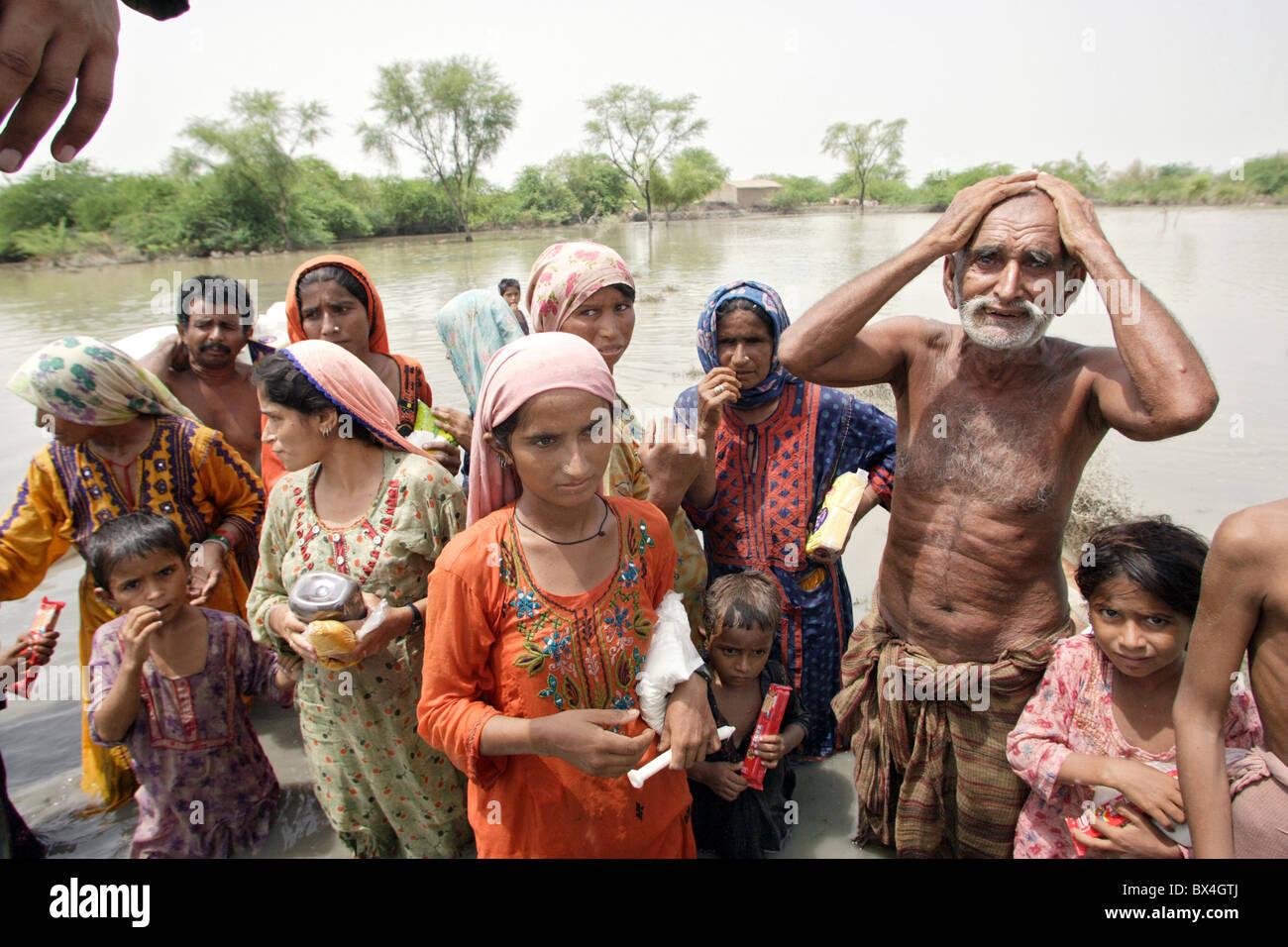 Flood disaster, Shadhat Kot, Pakistan - Stock Image
