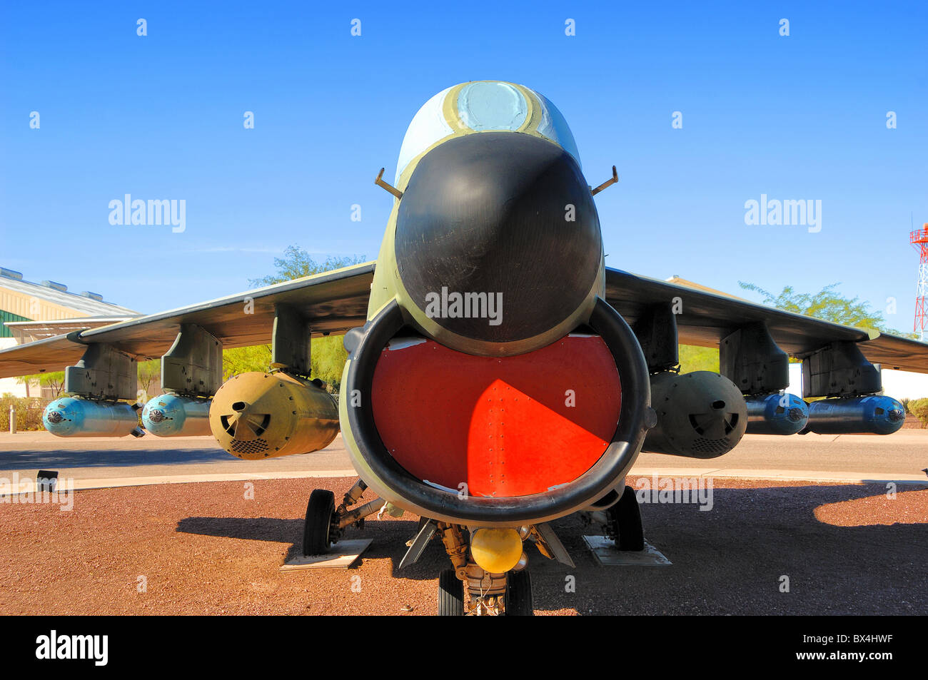 Vought A70 Corsair plane at Pima Air and Space Museum near Tucson in Arizona, United States of America. - Stock Image