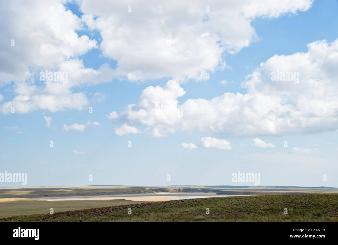 Water still appears at certain times of year, in what used to be the bottom of an inland sea in southern New Mexico. - Stock Image