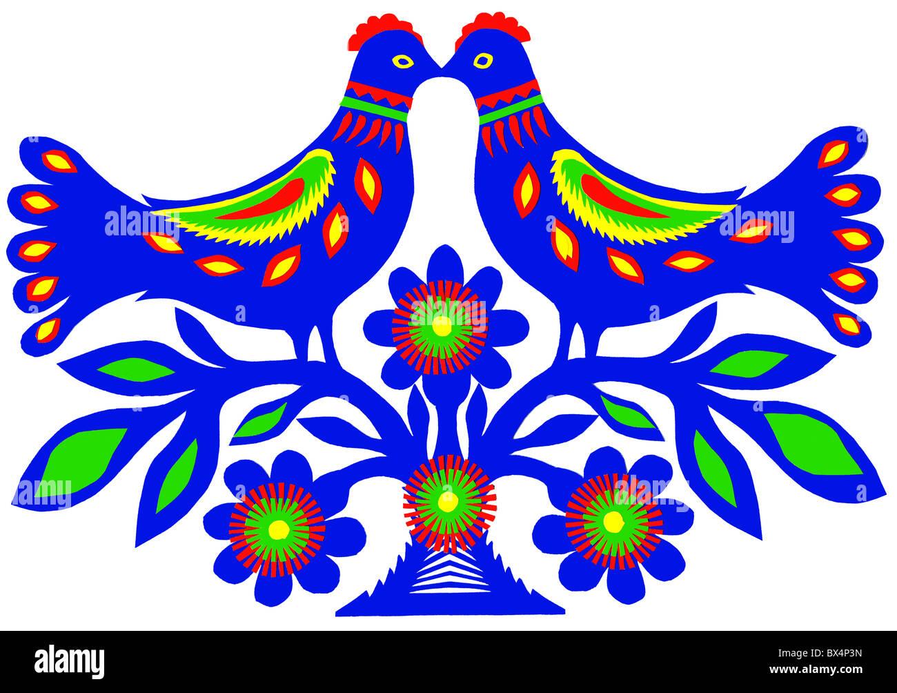 Traditional paper cutting with birds and flowers kurpie region of traditional paper cutting with birds and flowers kurpie region of poland by apolonia nowak from kadzidlo mazowsze poland europe mightylinksfo