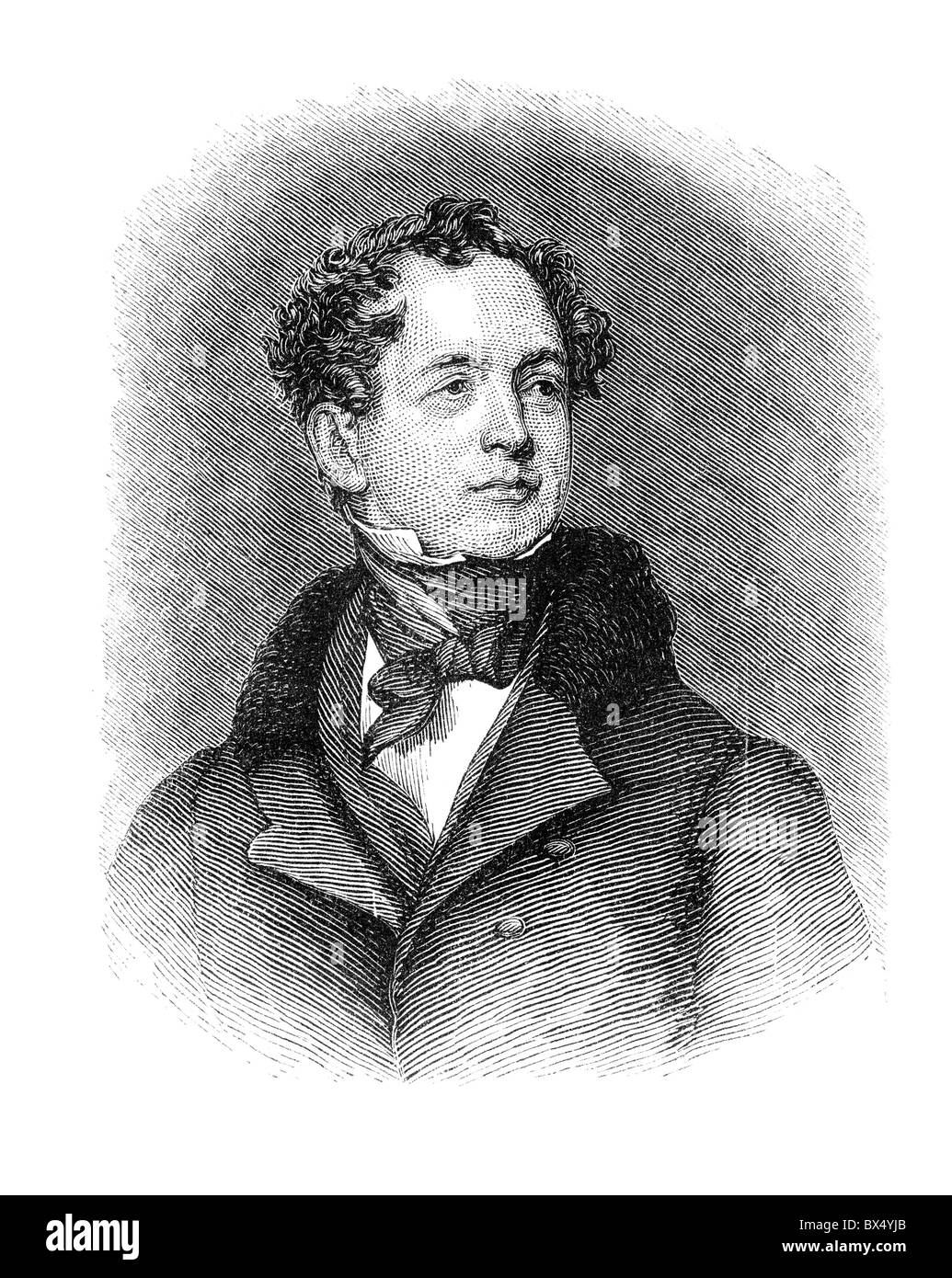 Thomas Moore (28 May 1779 – 25 February 1852) was an Irish poet, singer, songwriter, and entertainer - Stock Image