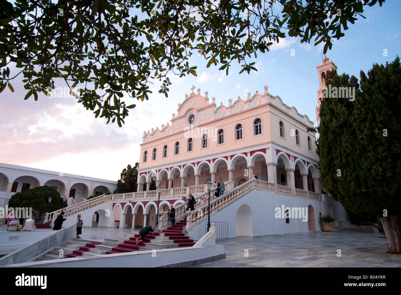 View of  Panagia Evangelistria Church, the most revered religious shrine in Greece. - Stock Image