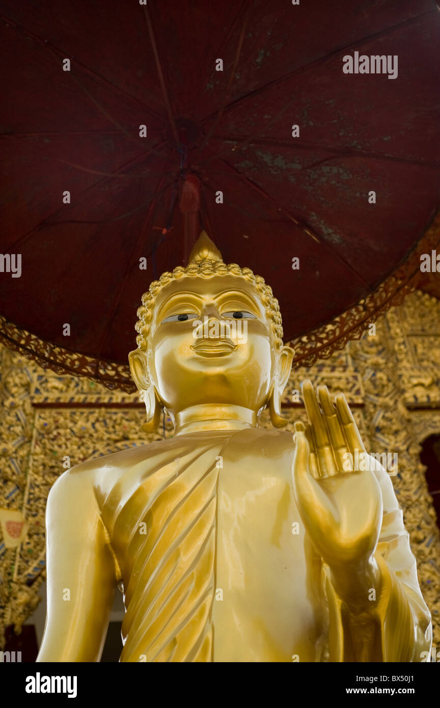 A Buddha at Wat Buppharam in Chiang Mai in Thailand. Stock Photo