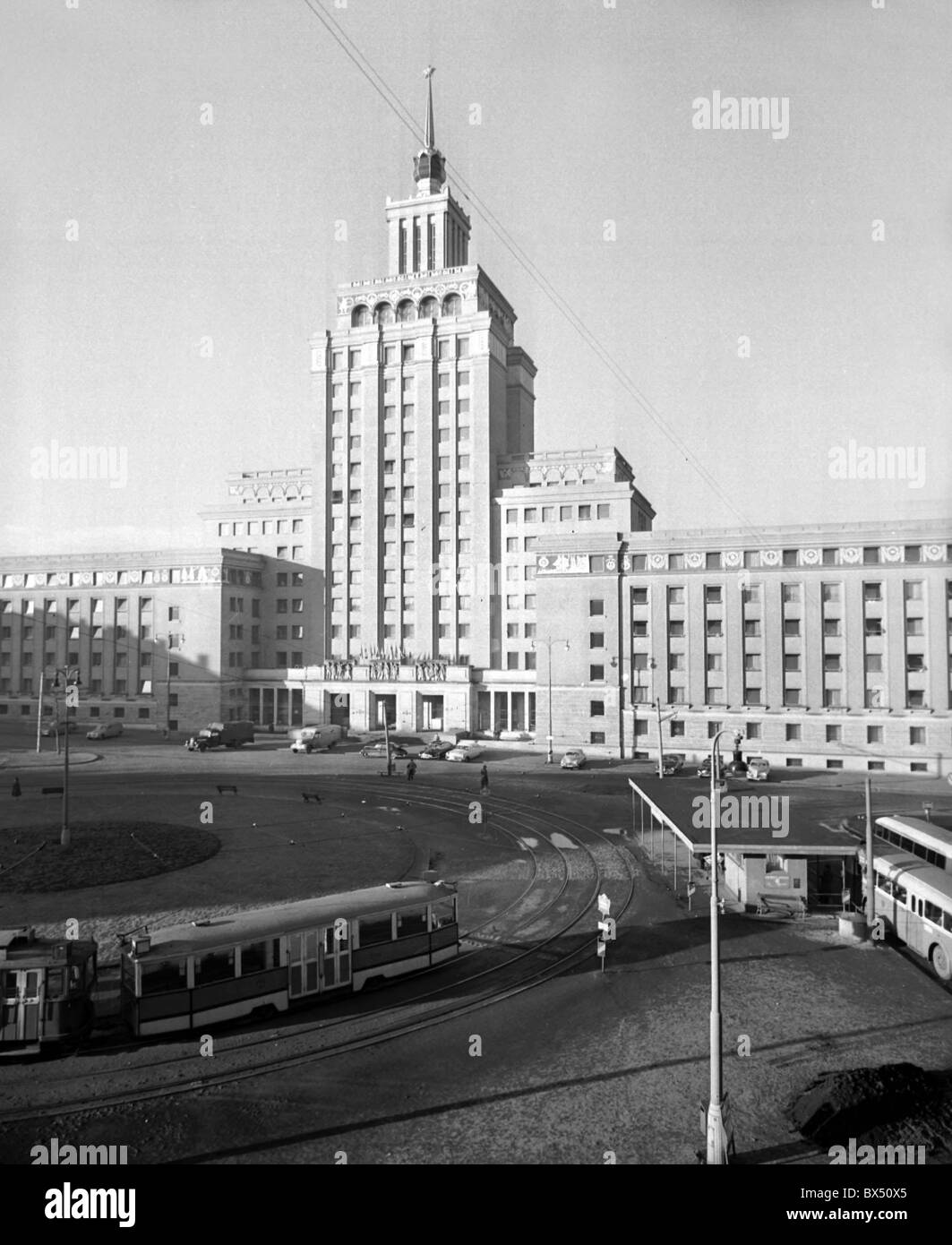 Hotel International is a typical exmple of Socialist Realism. Constructed according to Soviet design in 1954 near - Stock Image