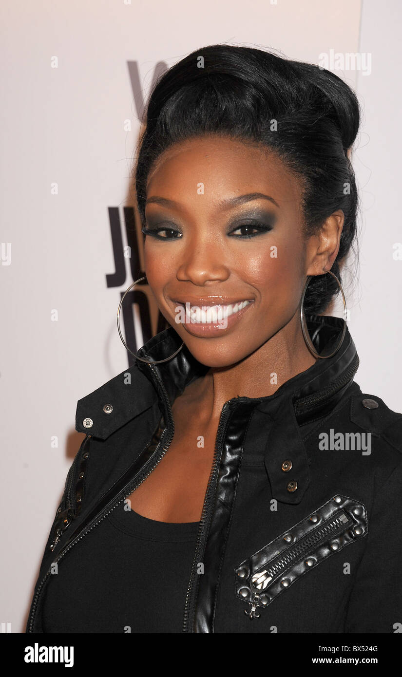 BRANDY  US singer in October 2010. Photo Jeffrey Mayer Stock Photo