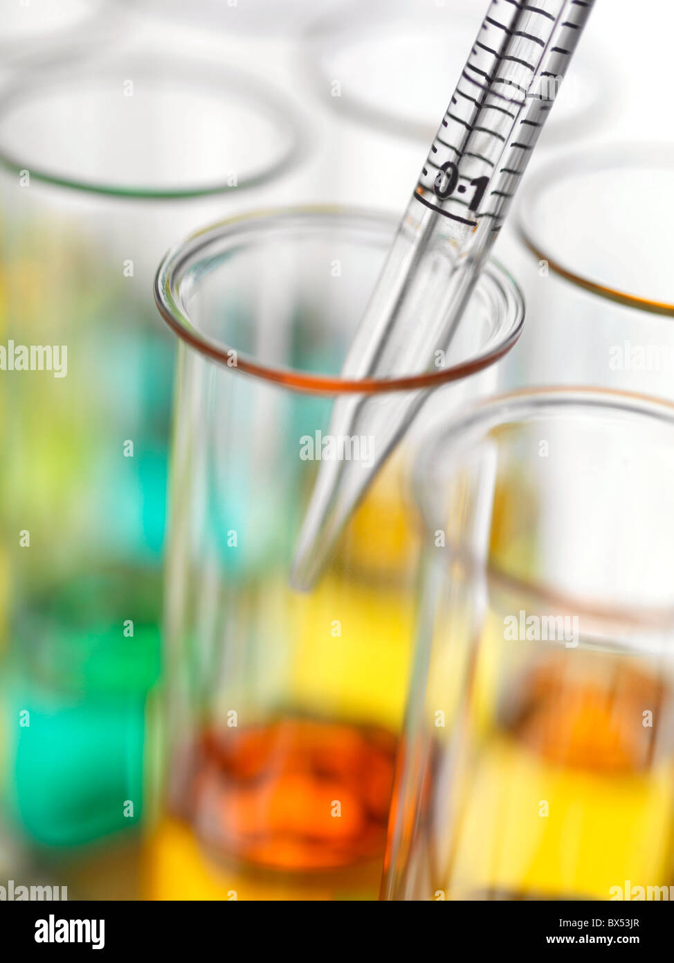 Pipetting - Stock Image