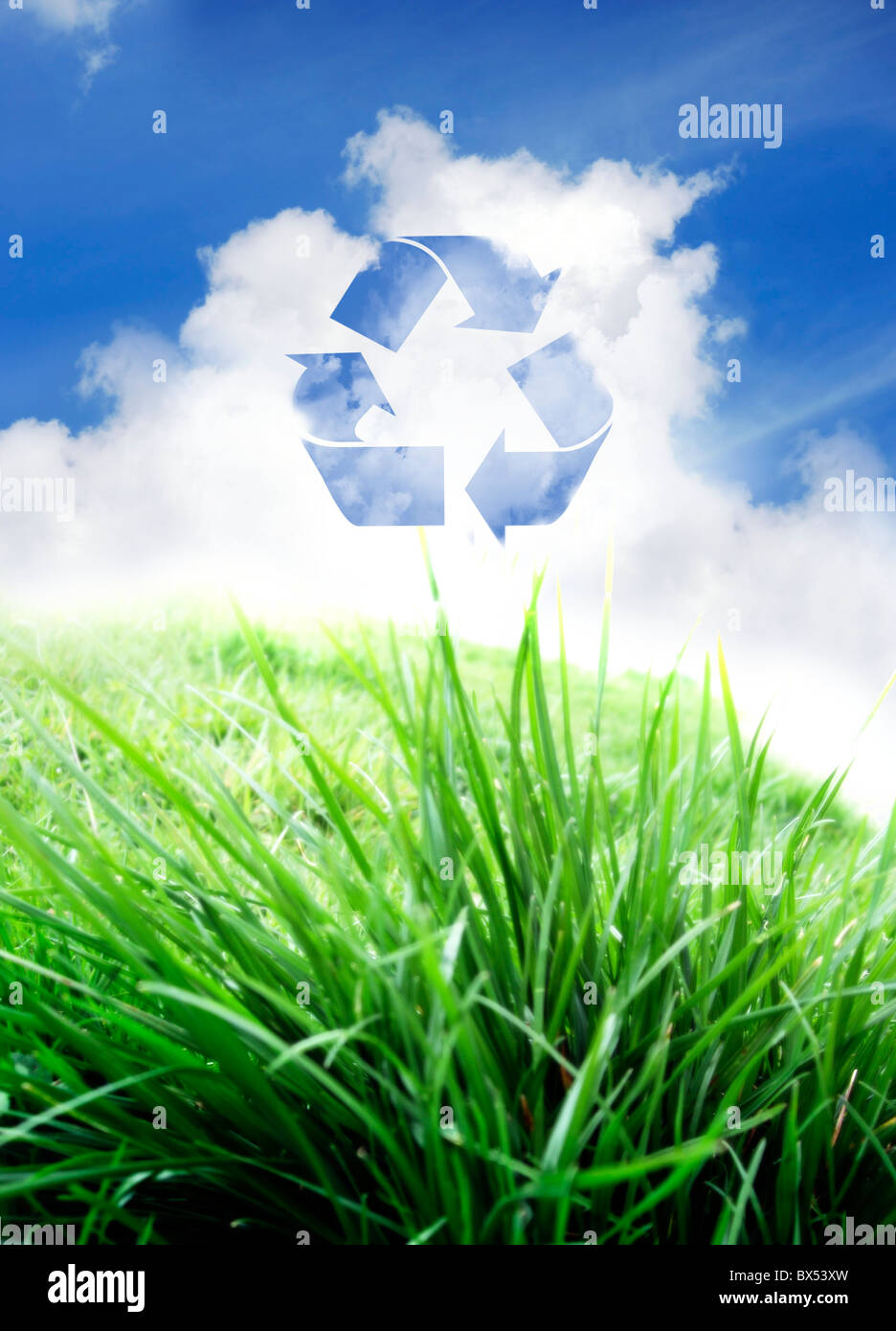 Green living, conceptual artwork - Stock Image