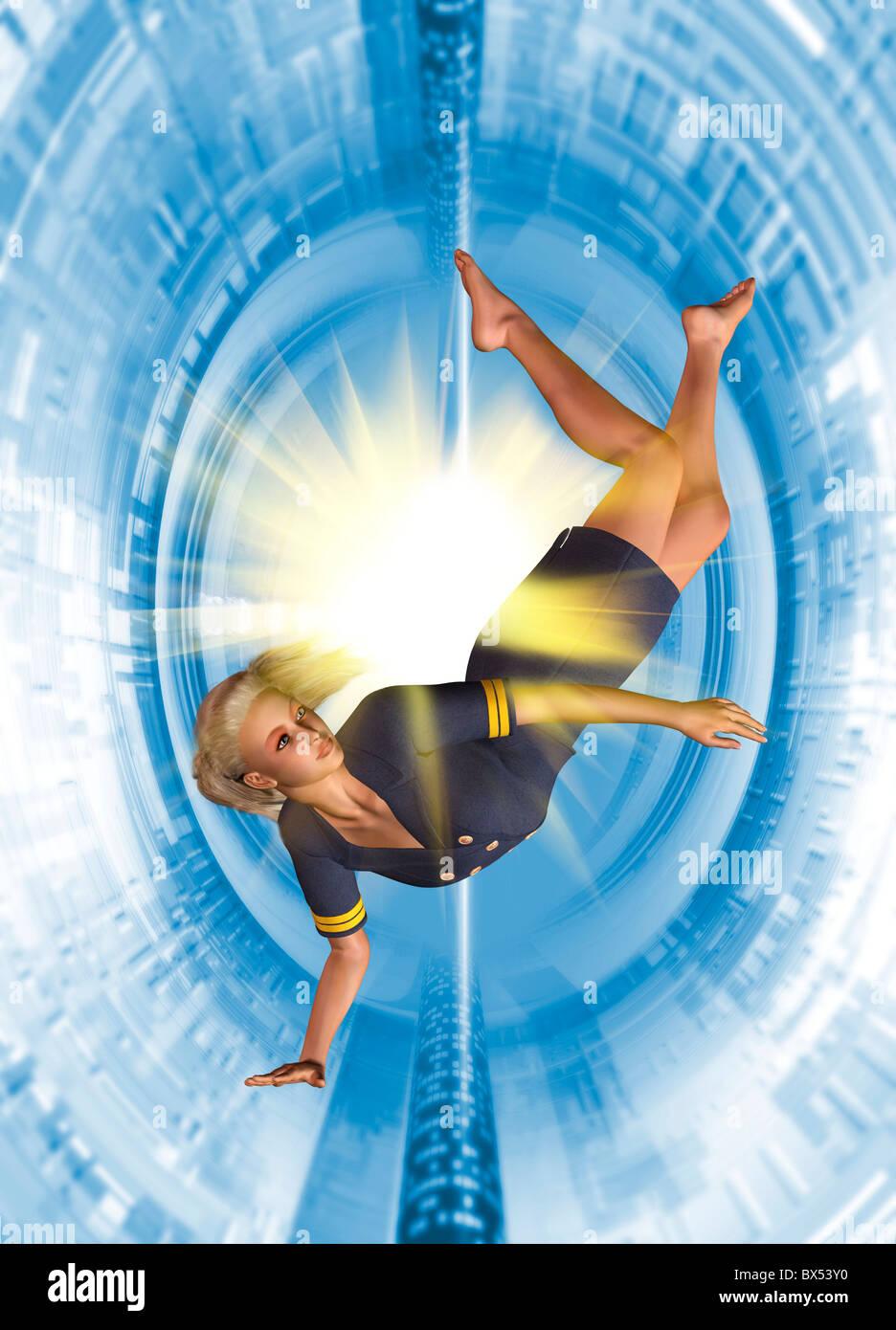 Zero gravity, artwork - Stock Image