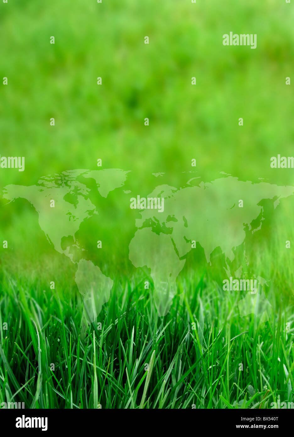 Green planet, conceptual artwork - Stock Image