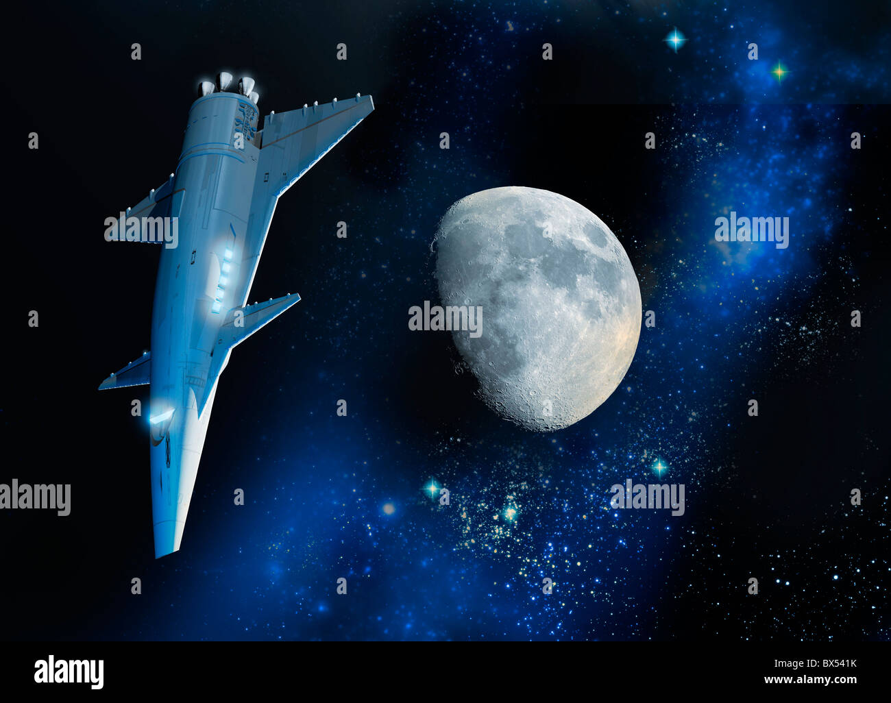 Spaceship, artwork - Stock Image
