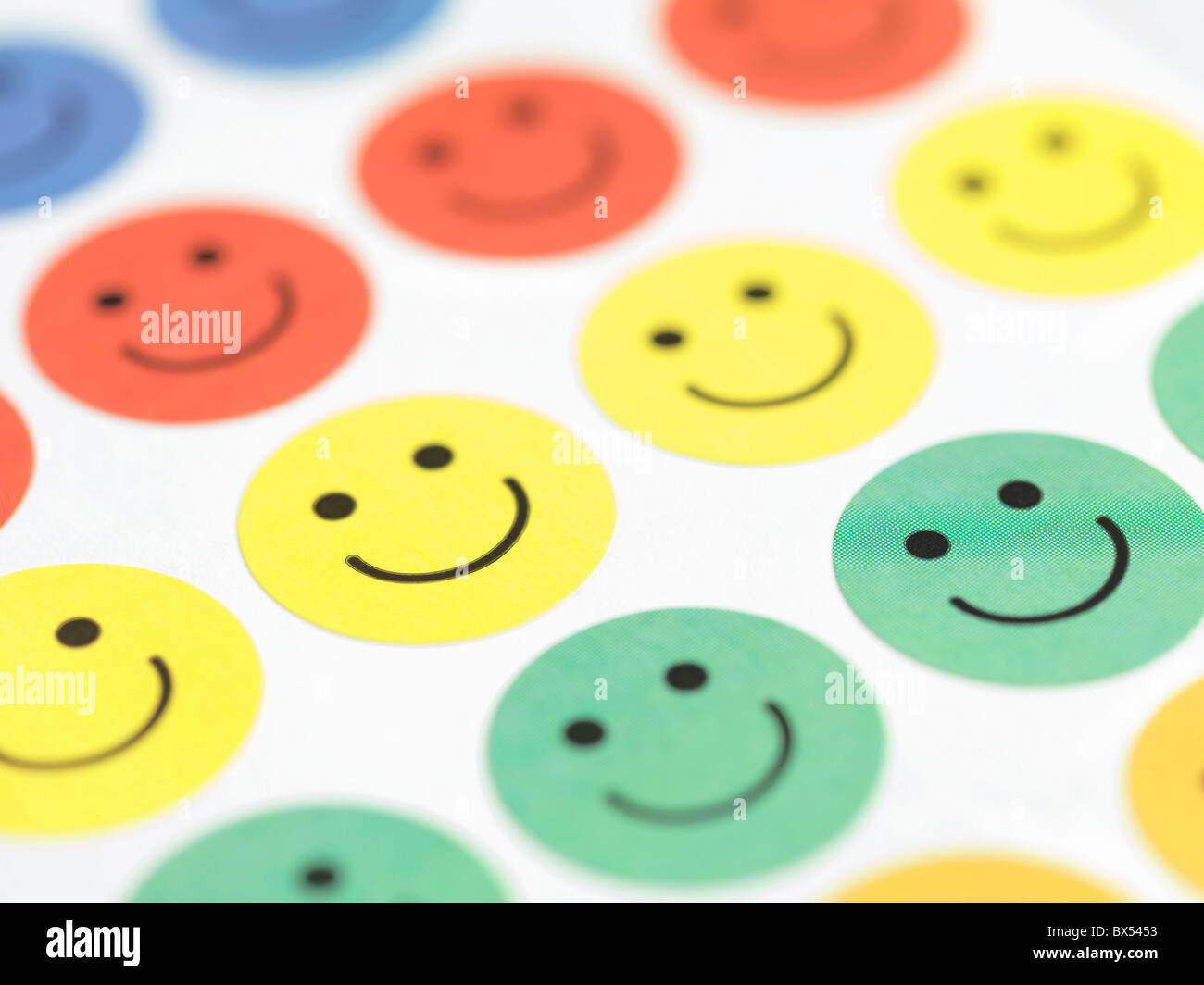 Smiley face stickers stock image