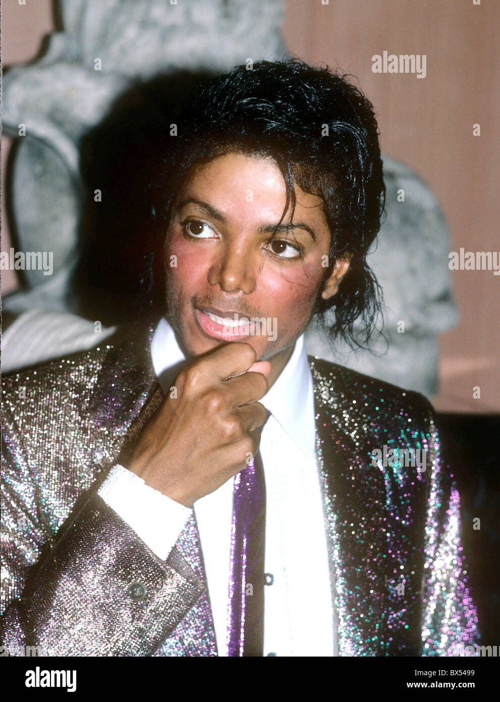 MICHAEL JACKSON  US singer in May 1984. Photo Jeffrey Mayer - Stock Image