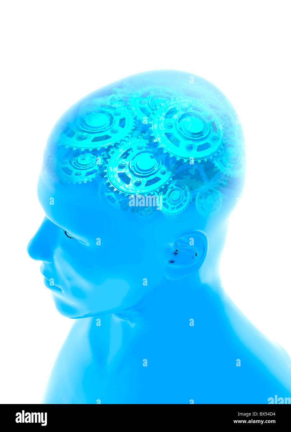 Artificial intelligence, artwork Stock Photo