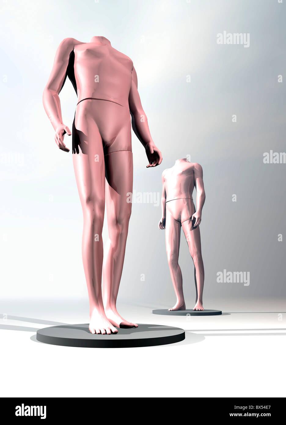Spare body parts, conceptual artwork - Stock Image