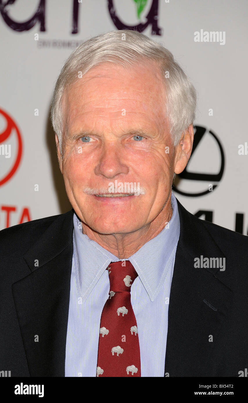 TED TURNER  US film and TV businessman in October 2010. Photo Jeffrey Mayer - Stock Image